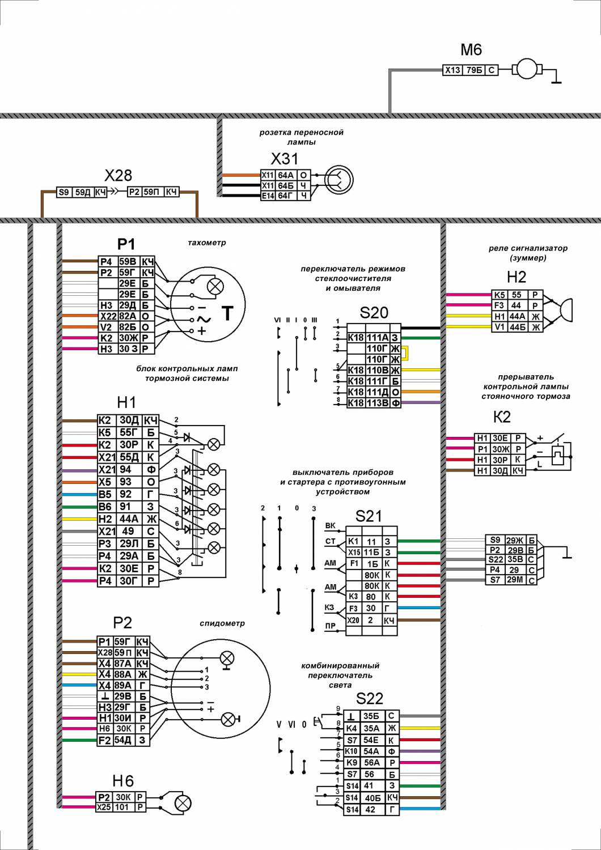 Обозначения цветов в автоэлектрике