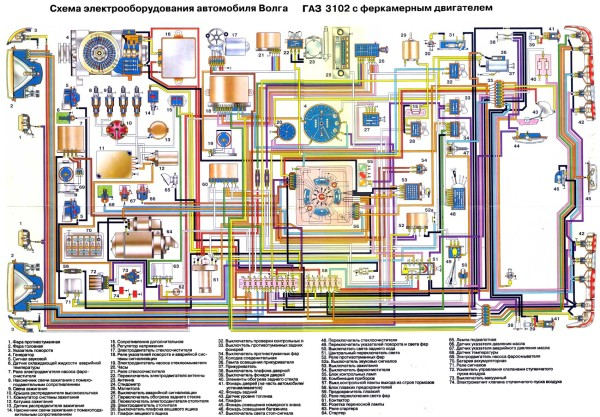 Схема электропроводки газель 402 фото 310