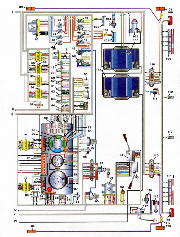 Электропроводка зил 5301 схема