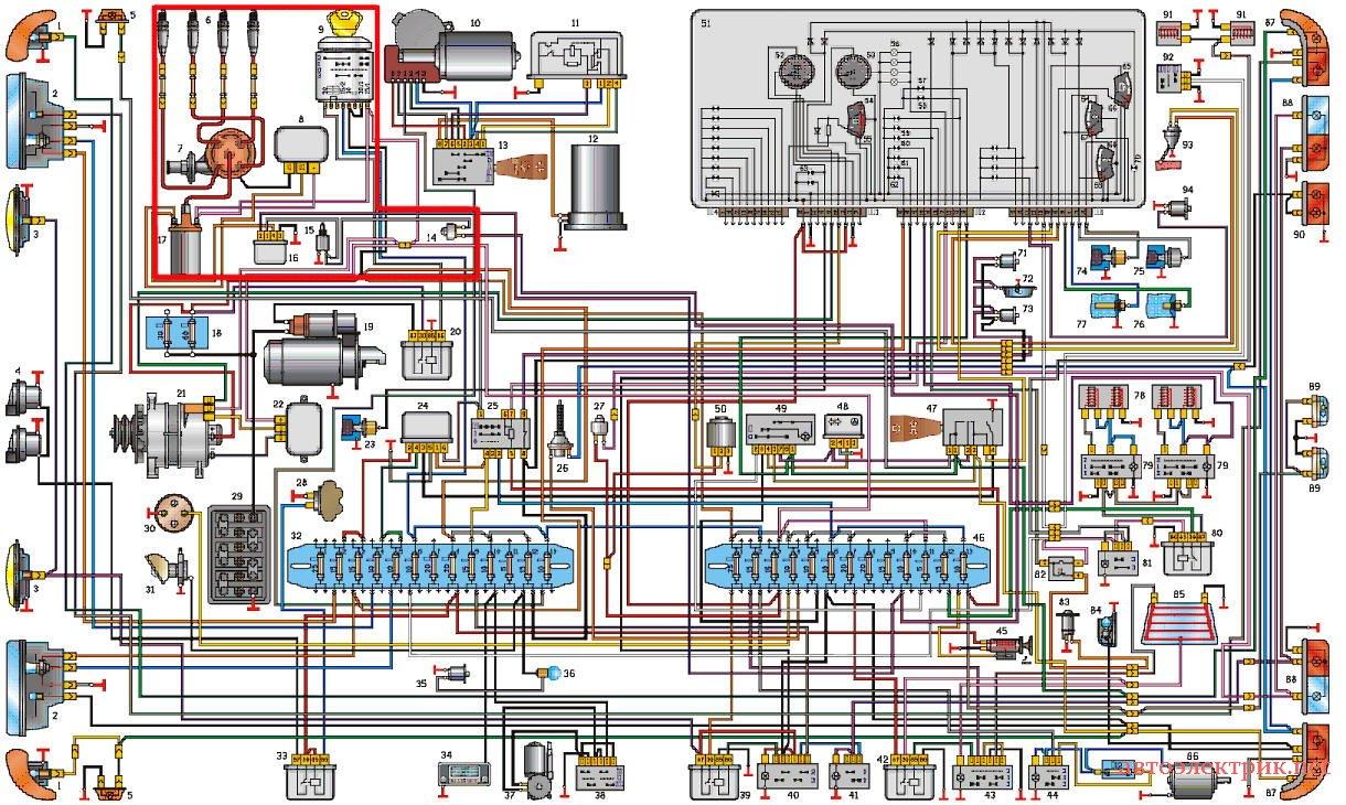 Электросхема газ 31029 цветная фото 640