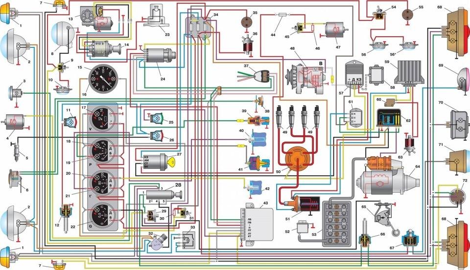 Схема проводки 417 уаз