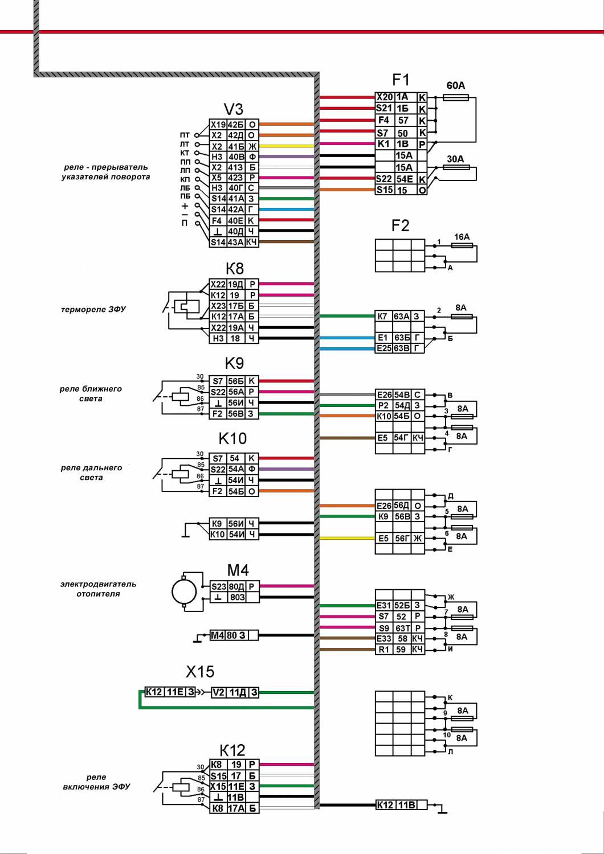 webasto на камаз схема установки цвета проводов