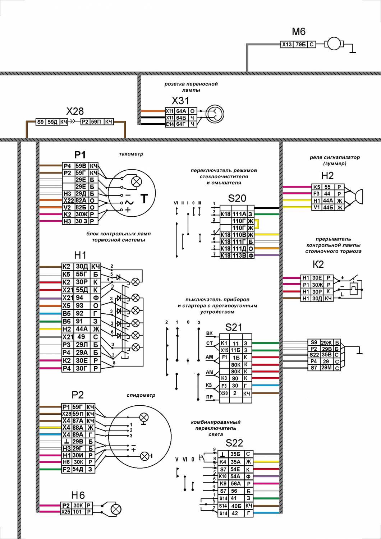 электросхема камаз 43114