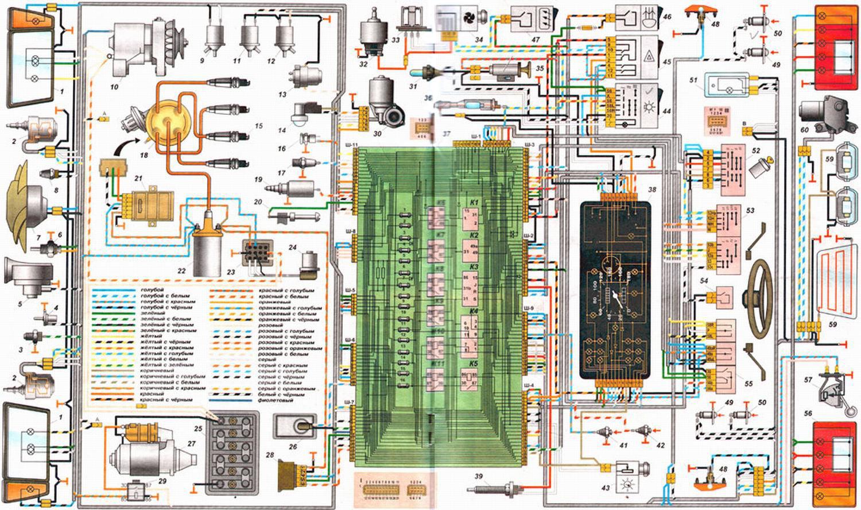 Схема электропроводки ваз 21053 фото 530