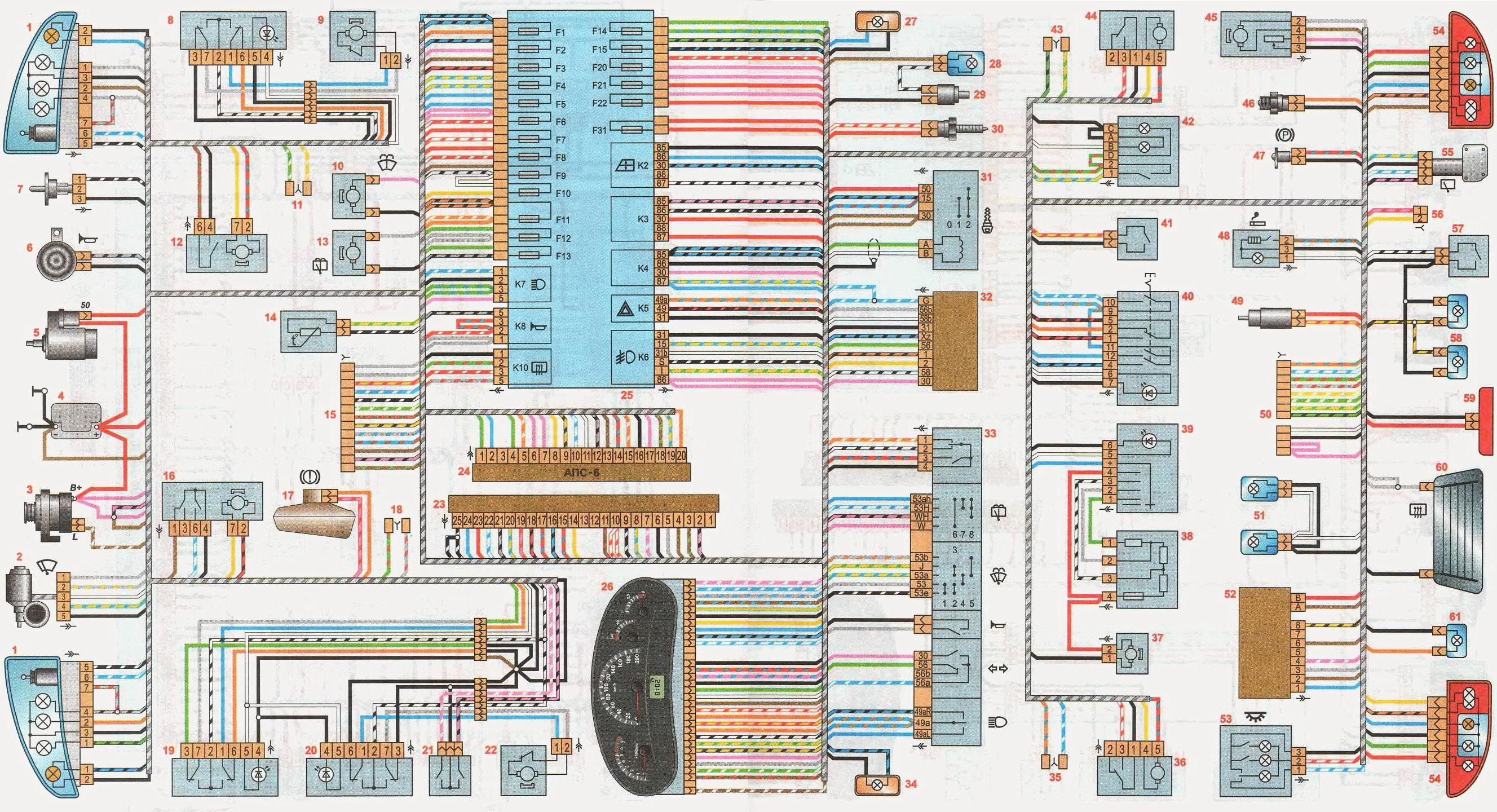 Схема электрическая лада ларгус