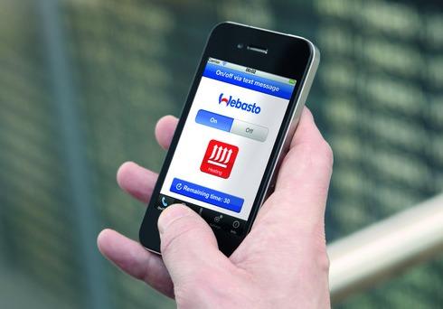 Специальное приложение в телефоне позволяет управлять автономной системой на любом расстоянии