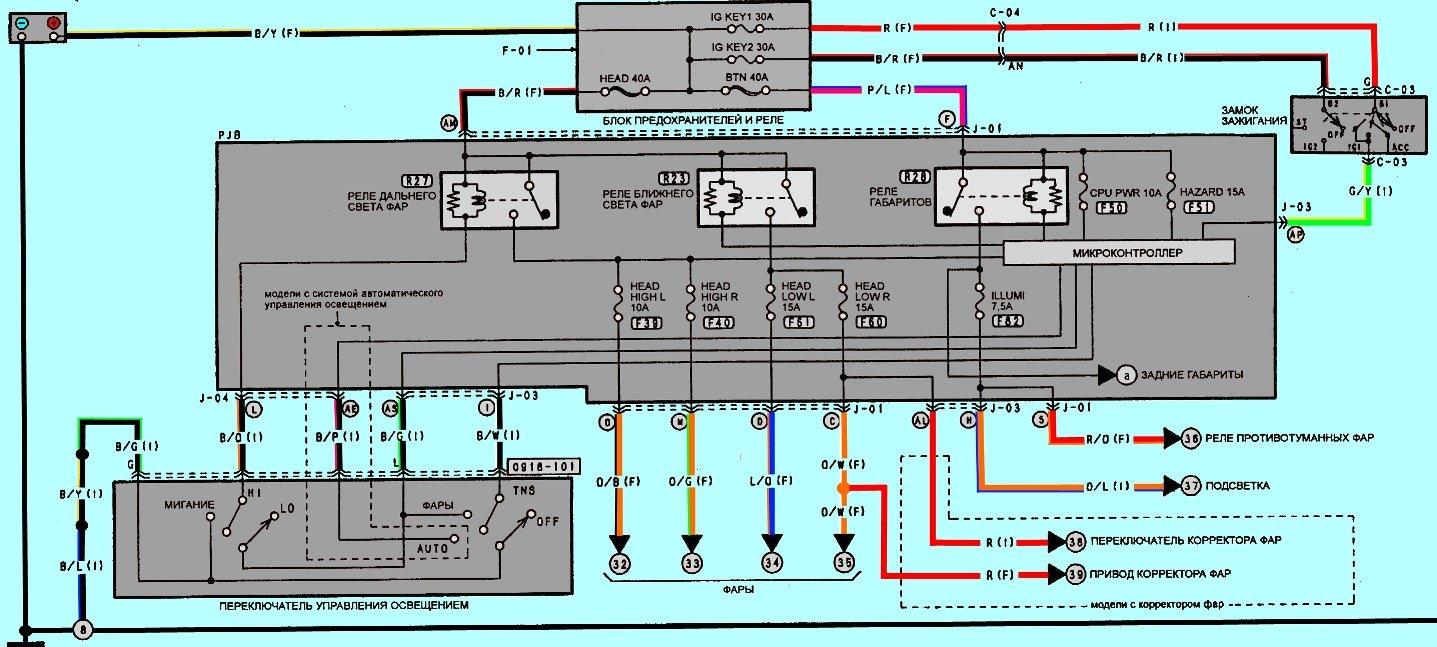 Схема проводки мазды 3