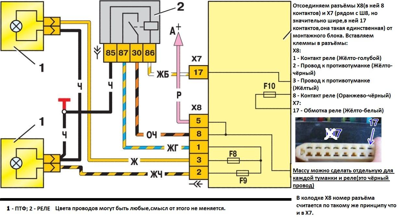 Схема выключателя птф